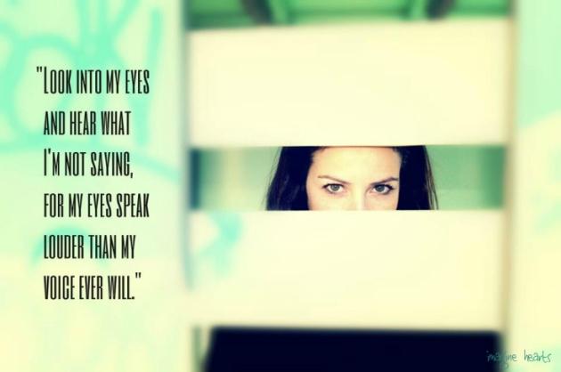 eyes speak louder quotes