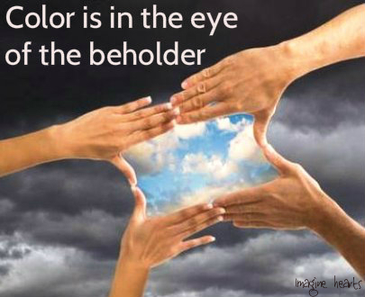 color is in the eye