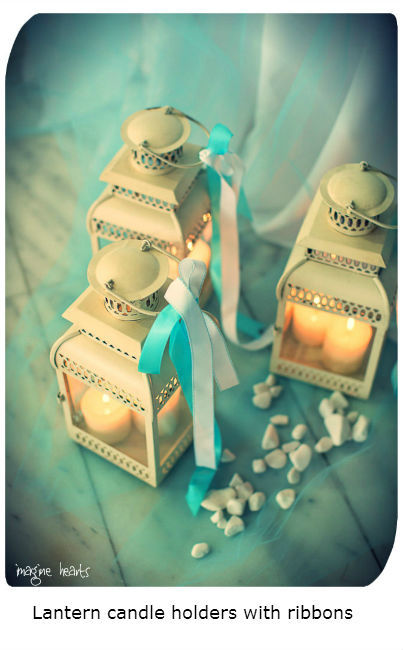 -Lantern candle holders with ribbons 1