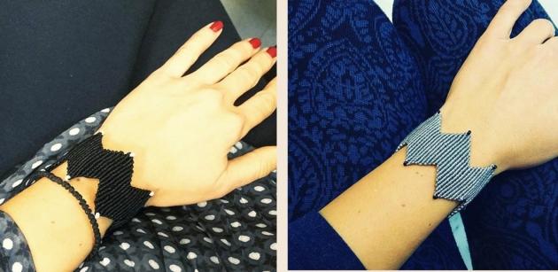 macrame bracelet zigzag