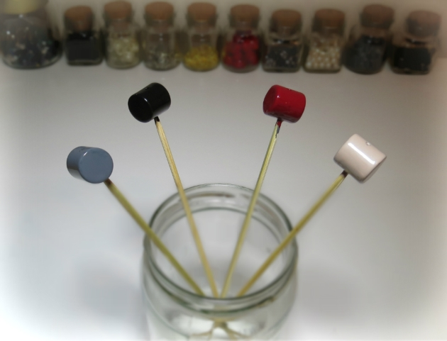 change the color of beads with nail polish
